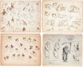 animation art:Model Sheet, Disney Model Sheet Group (Walt Disney, 1936-37).... (Total: 10Items)