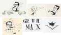 Animation Art:Production Cel, Groucho Marx You Bet Your Life Title Production Cel Group (c. late 1950s).... (Total: 6 )