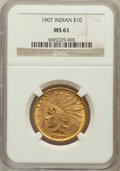 Indian Eagles: , 1907 $10 No Periods MS61 NGC. NGC Census: (1133/3798). PCGSPopulation (552/3776). Mintage: 239,400. Numismedia Wsl. Price ...