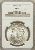 Morgan Dollars: , 1898-O $1 MS66 NGC. NGC Census: (1854/174). PCGS Population(1841/152). Mintage: 4,440,000. Numismedia Wsl. Price for probl...