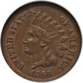 Indian Cents, 1866/1--6 1C MS64 Brown NGC. VP-001. (FS-301.) NGC Census: (72/43).PCGS Population (56/13). Mintage: 9,826,500. Numismedia...
