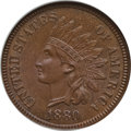 Indian Cents: , 1880 1C MS66 Brown NGC. CAC. NGC Census: (4/0). PCGS Population(1/0). Mintage: 38,964,956. Numismedia Wsl. Price for probl...
