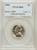 Proof Jefferson Nickels: , 1954 5C PR68 PCGS. PCGS Population (247/6). NGC Census: (521/199).Mintage: 233,300. Numismedia Wsl. Price for problem free...