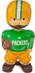 """Football Collectibles:Others, 1960-61 Green Bay Packers Oversized Promotional Nodder (14"""" tall)...."""