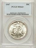 Walking Liberty Half Dollars, 1947 50C MS64+ PCGS. PCGS Population (4354/4610). NGC Census:(2486/3465). Mintage: 4,094,000. Numismedia Wsl. Price for pr...