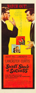 """Movie Posters:Drama, Sweet Smell of Success (United Artists, 1957). Insert (14"""" X 36"""")....."""