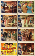"""Movie Posters:Comedy, Abbott and Costello in Society (Universal, 1944). Lobby Card Set of8 (11"""" X 14"""").. ... (Total: 8 Items)"""