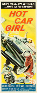 """Movie Posters:Exploitation, Hot Car Girl (Allied Artists, 1958). Insert (14"""" X 36"""").. ..."""