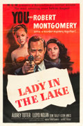 "Movie Posters:Film Noir, Lady in the Lake (MGM, 1947). One Sheet (27"" X 41"").. ..."