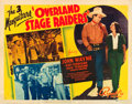 "Movie Posters:Western, Overland Stage Raiders (Republic, 1938). Half Sheet (22"" X 28"") Style A.. ..."