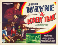"""The Lonely Trail (Republic, 1936). Half Sheet (22"""" X 28"""")"""