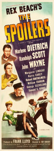"""Movie Posters:Western, The Spoilers (Universal, 1942). Insert (14"""" X 36"""").. ..."""