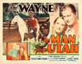 "Movie Posters:Western, The Man from Utah (Monogram, 1934). Half Sheet (22"" X 28"").. ..."