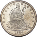 Seated Half Dollars, 1844-O 50C Doubled Date AU55 PCGS. WB-103, FS-301....