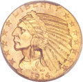 Indian Half Eagles, 1914 $5 MS65 PCGS. CAC....
