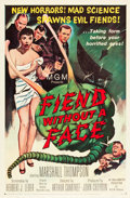 "Movie Posters:Science Fiction, Fiend Without a Face (MGM, 1958). One Sheet (27"" X 41"").. ..."