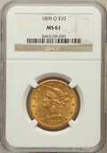 Liberty Eagles: , 1899-O $10 MS61 NGC. NGC Census: (51/28). PCGS Population (58/49).Mintage: 37,047. Numismedia Wsl. Price for problem free ...