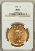 Saint-Gaudens Double Eagles: , 1912 $20 MS62 NGC. NGC Census: (936/550). PCGS Population(1046/1547). Mintage: 149,700. Numismedia Wsl. Price for problem...