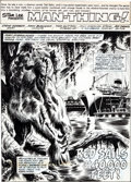 Original Comic Art:Splash Pages, John Buscema and Tom Sutton Man-Thing #13 Splash Page 1Original Art (Marvel, 1974)....