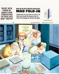 Original Comic Art:Covers, Al Jaffee Mad #251 Fold-In Back Cover Original Art (EC,1984)....