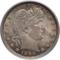 Barber Quarters: , 1894 25C MS64 PCGS. CAC. PCGS Population (46/27). NGC Census:(42/27). Mintage: 3,432,972. Numismedia Wsl. Price for proble...