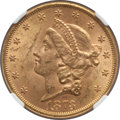 Liberty Double Eagles: , 1873 $20 Open 3 MS61 NGC. NGC Census: (1981/801). PCGS Population(1123/1007). Numismedia Wsl. Price for problem free NGC/...