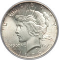 Peace Dollars: , 1926 $1 MS65 PCGS. PCGS Population (1203/163). NGC Census:(698/48). Mintage: 1,939,000. Numismedia Wsl. Price for problem ...