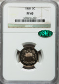 Proof Shield Nickels, 1868 5C PR65 NGC. CAC....