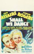 "Movie Posters:Musical, Shall We Dance (RKO, 1937). Window Card (14"" X 22"").. ..."