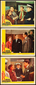 "Movie Posters:Hitchcock, Foreign Correspondent (United Artists, 1940). Lobby Cards (3) (11""X 14"").. ... (Total: 3 Items)"