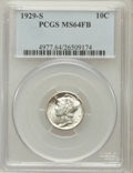 Mercury Dimes: , 1929-S 10C MS64 Full Bands PCGS. PCGS Population (122/289). NGCCensus: (39/65). Mintage: 4,730,000. Numismedia Wsl. Price ...