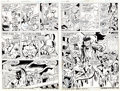 Original Comic Art:Panel Pages, John Buscema, Don Perlin, and Vince Colletta Thor #212 PageOriginal Art Group (Marvel, 1973).... (Total: 5 Items)