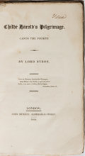 Books:Literature Pre-1900, Lord Byron. Childe Harold's Pilgrimage. Canto the Fourth.John Murray, 1818. First edition, second issue, with the a...