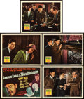 "Movie Posters:Mystery, Charlie Chan at the Wax Museum (20th Century Fox, 1940). Title Lobby Card and Lobby Cards (4) (11"" X 14"").. ... (Total: 5 Items)"
