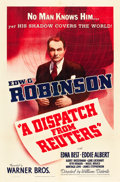 "Movie Posters:Drama, A Dispatch from Reuters (Warner Brothers, 1940). One Sheet (27"" X 41"").. ..."