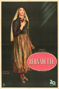 "Movie Posters:Drama, The Song of Bernadette (20th Century Fox, 1943). Argentinean OneSheet (29"" X 43"").. ..."