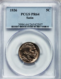 Proof Buffalo Nickels, 1936 5C Type One--Satin Finish PR64 PCGS....