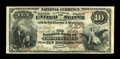 National Bank Notes:Pennsylvania, Coatesville, PA - $10 1882 Brown Back Fr. 480 The NB of Chester Valley Ch. # 575. ...