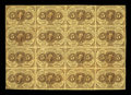 Fractional Currency:First Issue, Fr. 1230 5c First Issue Uncut Sheet of Sixteen Very Fine....