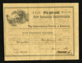 Confederate Notes:Group Lots, Ball 364 Criswell UNL $500 1864-65 Six Per Cent Non TaxableCertificates.. ...