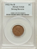 Lincoln Cents: , 1922 No D 1C Strong Reverse VF25 PCGS. PCGS Population (482/1938).Numismedia Wsl. Price for problem fr...