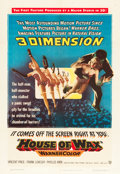 """Movie Posters:Horror, House of Wax (Warner Brothers, 1953). One Sheet (27"""" X 41"""") 3-D Style.. ..."""