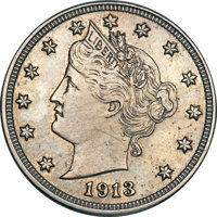 Featured item image of 1913 5C Liberty PR63 PCGS....