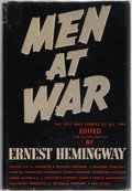 Books:Literature 1900-up, Ernest Hemingway. Men at War. Crown, 1942. First edition.Publisher's binding and dust jacket (with $3.00 price)...