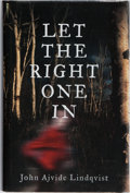 Books:Horror & Supernatural, John Ajvide Lindquist. Let the Right One In. London:Quercus, 2007. First UK edition. Publisher's binding and du...