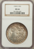 Morgan Dollars: , 1900-O $1 MS66 NGC. NGC Census: (974/71). PCGS Population (881/33).Mintage: 12,590,000. Numismedia Wsl. Price for problem ...