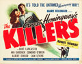 "Movie Posters:Film Noir, The Killers (Universal, 1946). Half Sheet (22"" X 28"").. ..."