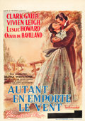 "Movie Posters:Academy Award Winners, Gone with the Wind (MGM, 1939). Pre-War Belgian (23"" X 33"").. ..."