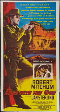"Man with the Gun (United Artists, 1955). Three Sheet (41"" X 77.5""). Western"