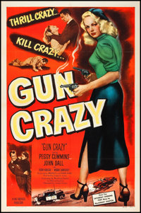 "Gun Crazy (United Artists, 1950). One Sheet (27"" X 41""). Film Noir"